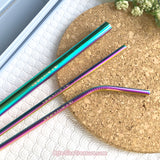 Sea Creatures \\ Rainbow Stainless Steel Straw Set