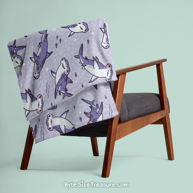 Hammerhead Shark \\ Throw Blanket