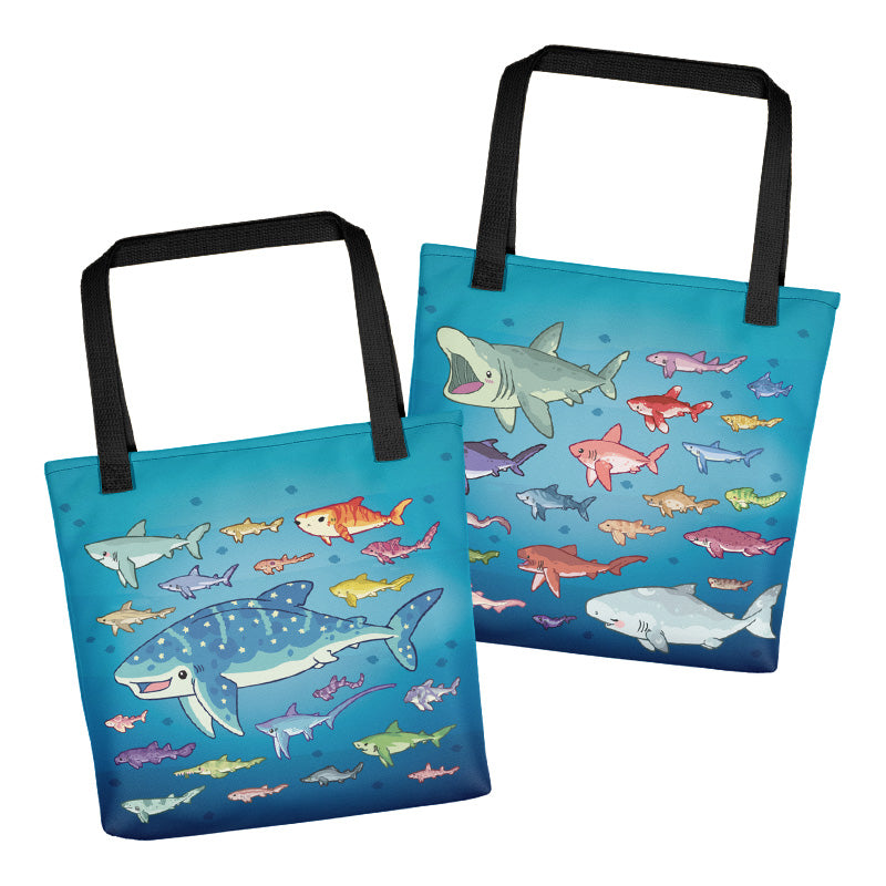 Shark Species Lineup \\ Tote Bag