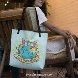 Save Our Earth Blowfish \\ Tote Bag