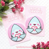 Shark Valentines Cards & 3in Button/Magnet