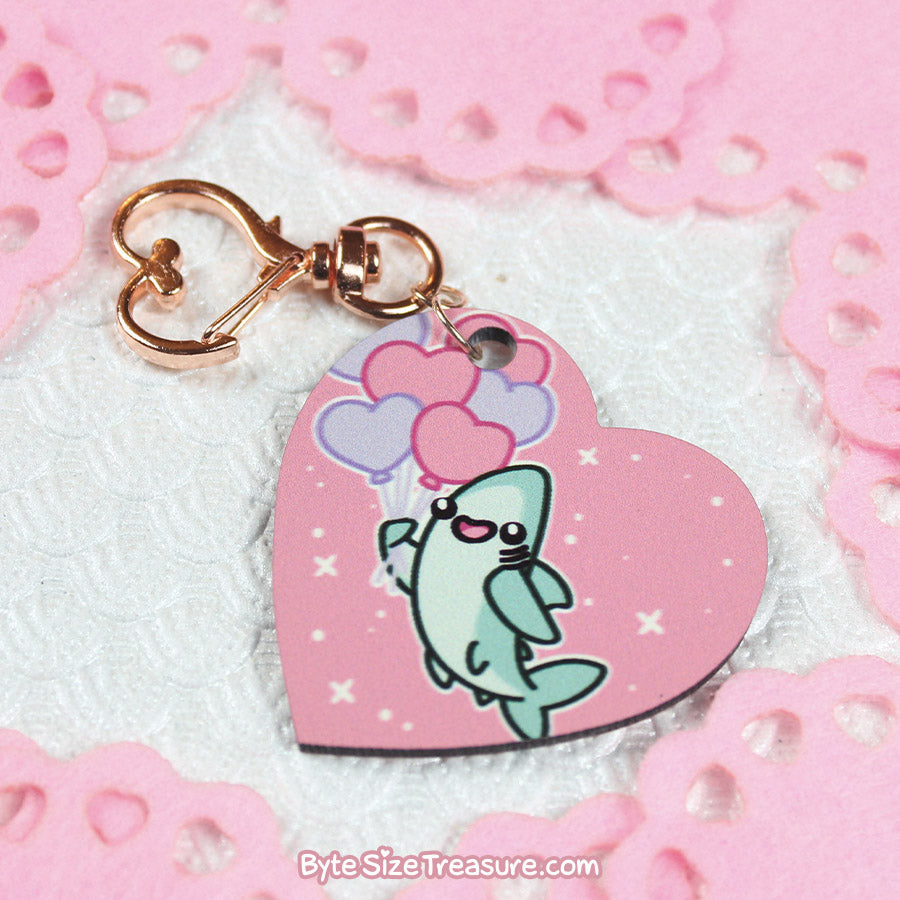 Love is in the Air \\ Hardboard Keychain