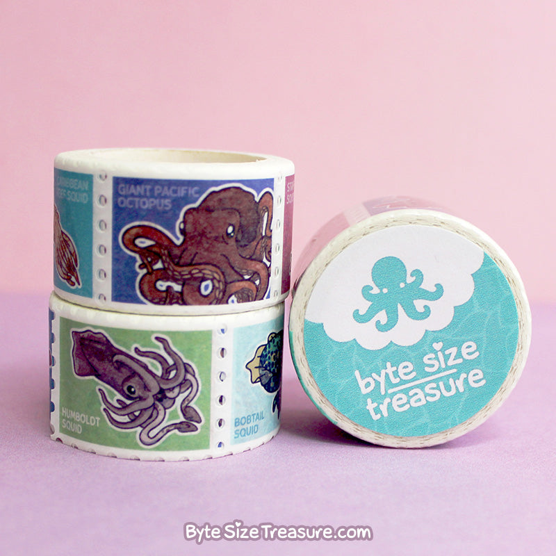 Cephalopod Stamps \\ Washi Tape