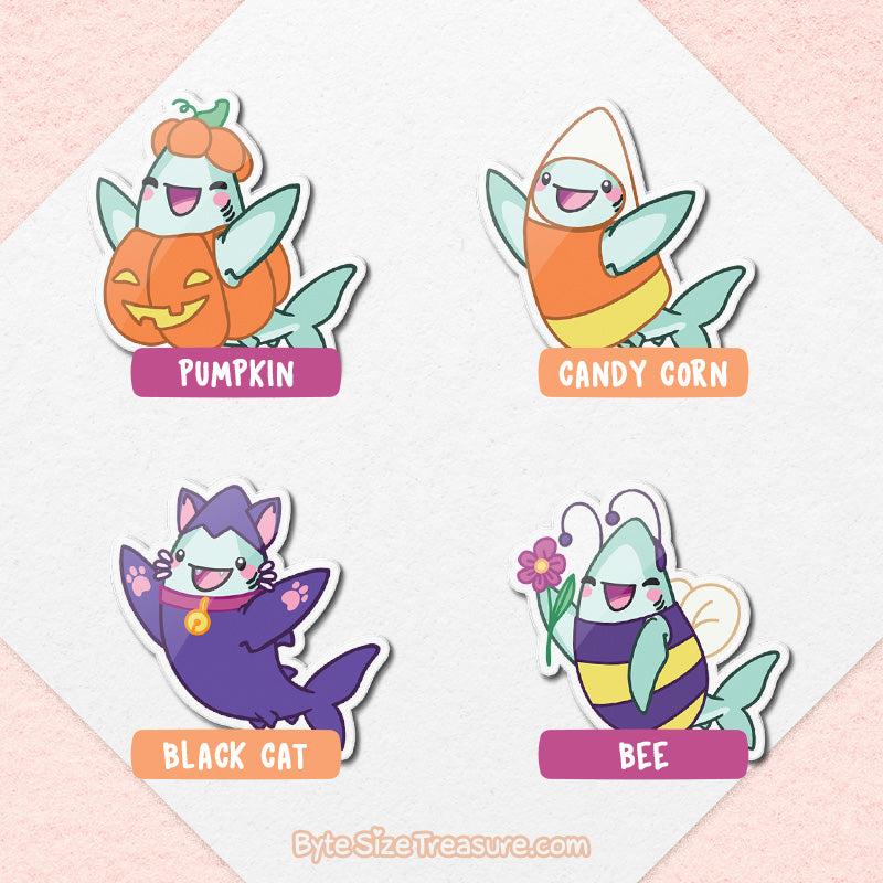 Byte's Halloween Costumes \\ Acrylic Pins