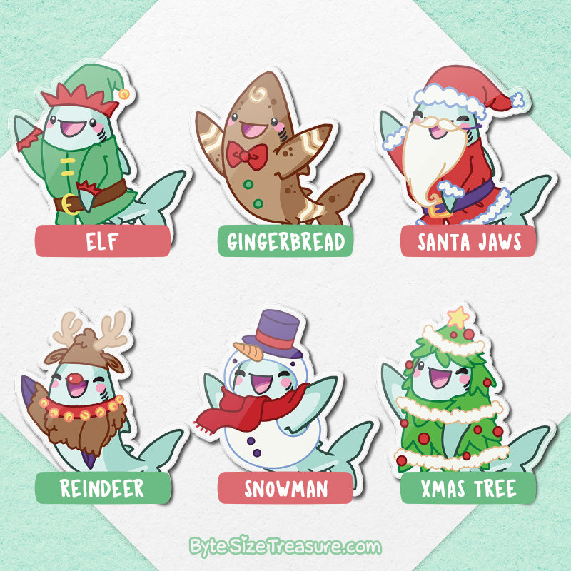 Byte's Holiday Costumes \\ Acrylic Pins