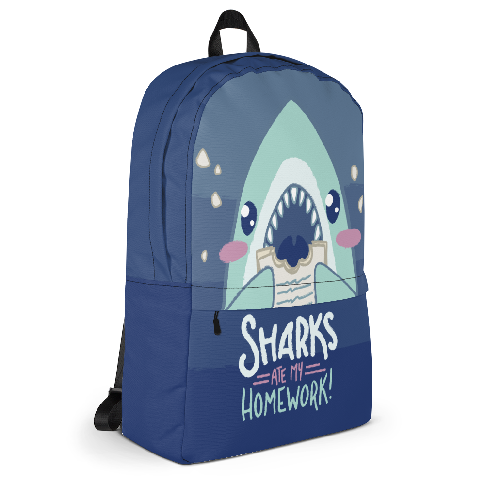 Sharks Ate My Homework \\ Backpack