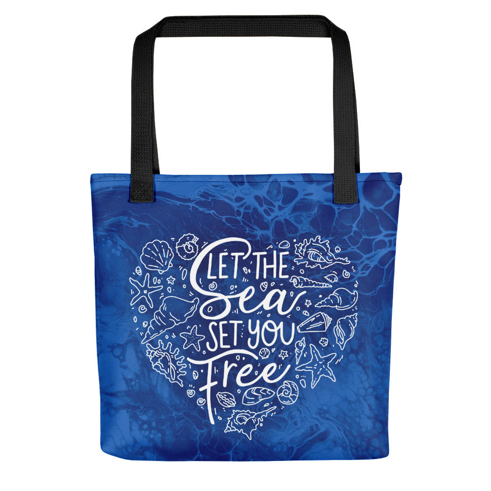 Let the Sea Set You Free! \\ Tote Bag