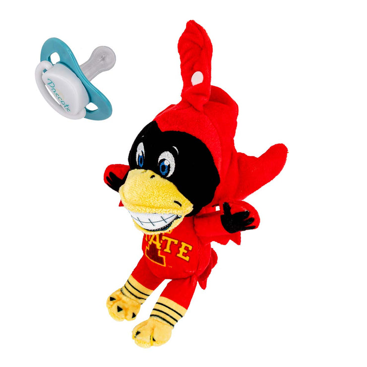 Iowa State Cy Mascot Pacifier Holder Plush Toy