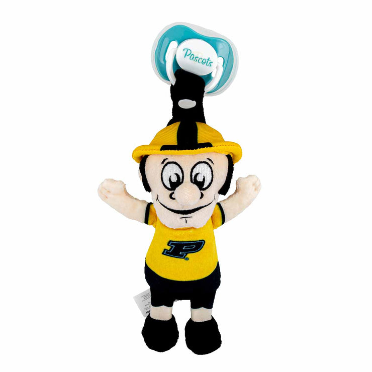 Purdue Pete Mascot Pacifier Holder Plush Toy