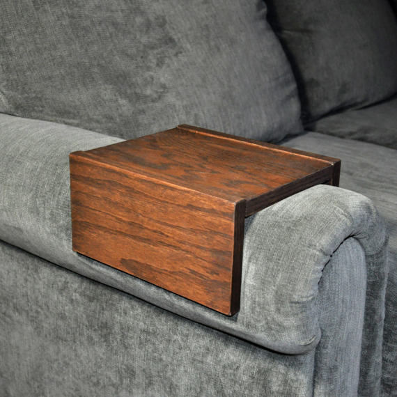 ... Sofa Armrest Table, Custom, Couch Armrest, Chair Caddy, Wood Tray, Wood  ...