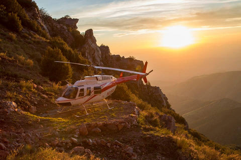 Helicopter on Four Peaks