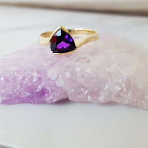 """Reese"" 14k Yellow Gold Arizona Amethyst Ring"