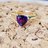 """Jenna"" 14k Yellow Gold Arizona Amethyst Ring"