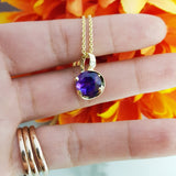 """Jayne"" 14k Yellow Gold Arizona Amethyst Pendant"