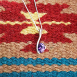 """Simone"" Sterling Silver Arizona Four Peaks Amethyst Necklace"