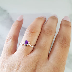 """Irma"" Sterling Silver Arizona Amethyst Ring"