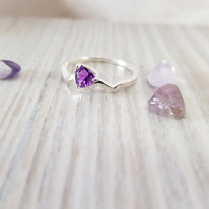 """Irma"" Sterling Silver Arizona Four Peaks Amethyst Ring"