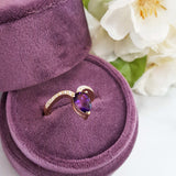 """Larissa"" 14k Yellow Gold Amethyst Ring"