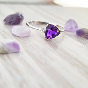"""Verna"" 14K Gold Amethyst Ring"