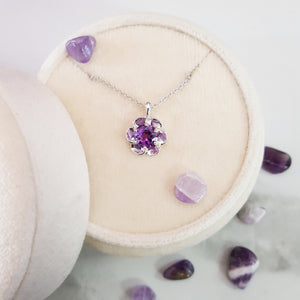 """Juniper"" Sterling Silver Amethyst Necklace"