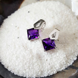 """Gayle"" 14k White Gold Arizona Amethyst Earrings"