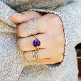 """Brielle"" 14k Yellow Gold Arizona Amethyst Ring"