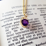 """Diana"" 14K Yellow Gold Arizona Amethyst Pendant"