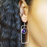 """Terra"" Sterling Silver Arizona Amethyst Earrings"