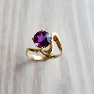 """Lorelai"" 14k Gold Arizona Amethyst Ring"