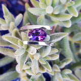 """Brooklyn"" Silver Arizona Amethyst Ring"