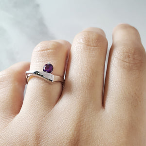 """Sophia"" Sterling Silver Arizona Amethyst Ring"