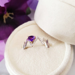"""Nova"" Sterling Silver Arizona Amethyst Ring"