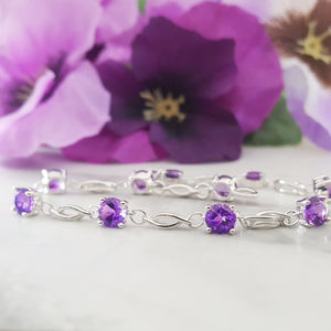 """Kinsley"" Sterling Silver Arizona Amethyst Bracelet"