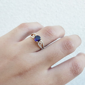 """Layne"" 14k Yellow Gold Arizona Amethyst Ring"