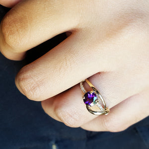 """Delaney"" 14k Yellow Gold Arizona Amethyst Ring"
