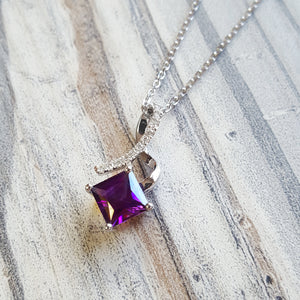 """Valerie"" 14k Arizona Amethyst Necklace"