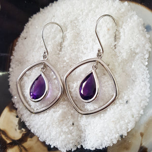 """Sabrina"" 14k White Gold Dangle Earrings"