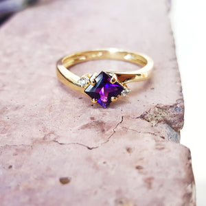 """Blakely"" 14k Yellow Gold Arizona Amethyst Ring"