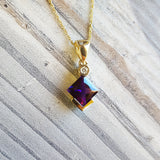 """Emery"" 14K Yellow Gold Arizona Amethyst Pendant"