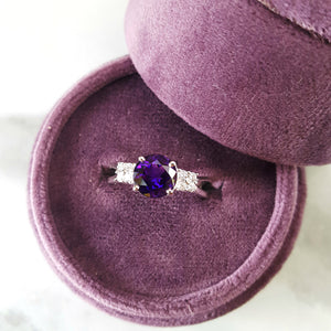 """Clarissa"" 14k White Gold Arizona Amethyst Ring"