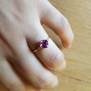 """Eleanor"" 14k Yellow Gold Arizona Amethyst Ring"