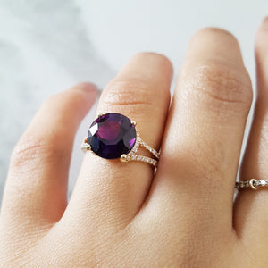 """Bella"" 14K Yellow Gold Arizona Amethyst Ring"
