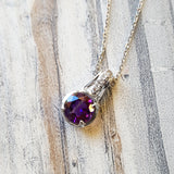 """Brooklyn"" 14K White Gold Arizona Amethyst Pendant"