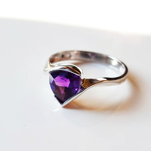 """Ali"" Sterling Silver Arizona Amethyst Ring"