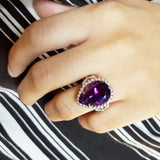 """Marjorie"" 14k White Gold Amethyst Ring"
