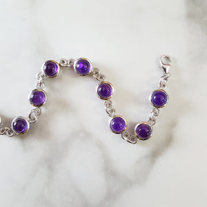 """Holland"" Sterling Silver Arizona Amethyst Bracelet"