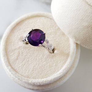 """Alayna"" 14K White Gold Arizona Amethyst Ring 363190"