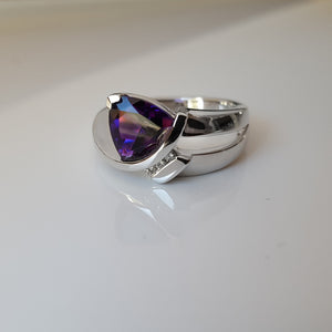 """Lacey"" 14K White Gold Arizona Amethyst Ring"