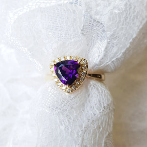 """Annika"" 14K Yellow Gold Arizona Amethyst Ring"