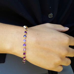 """Aubrey"" 14k Yellow Gold Arizona Amethyst Bracelet"